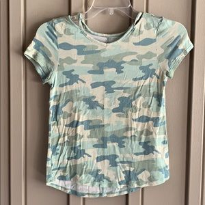 Justice Camo Short Sleeve Shirt Size 10